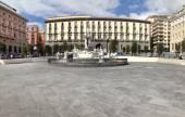 Neptune fountain in Naples- Italy — Stock Photo