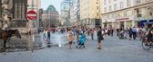 People walking  in Vienna — Stock Photo