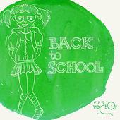 Okula hoş geldiniz — Stok Vektör