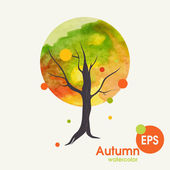 Creative Autumn Background — Stock Vector