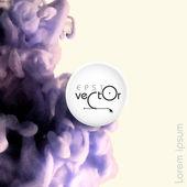 Cloud of Ink In Water — Stock Vector