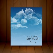 Cloud, Sky Painted Background — Stock Vector