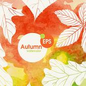 Creative Autumn Background — Stock Vector