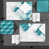 Progettazione di modello di business brochure — Vettoriale Stock