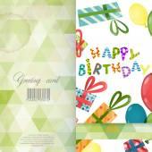 Greeting Card Design, Template — Wektor stockowy