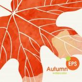 Simple Autumn Background — Stock Vector