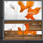 パンフレット テンプレート デザイン — ストックベクタ