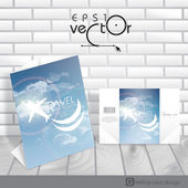 Greeting Card Design, Template — Vecteur