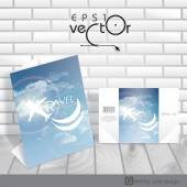 Greeting Card Design, Template — Stock vektor