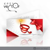 Invitation Card Design, Template — Vecteur