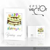 Greeting Card Design, Template — Stockvektor