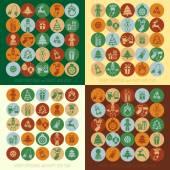Conjunto de ícones de Natal — Vetor de Stock