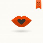 Happy Valentines Day Icon — Stock Vector