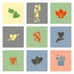Happy Valentines Day Icons — Stock Vector #63811829