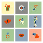Happy Valentines Day Icons — Stock Vector #63811899