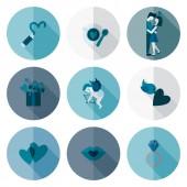 Happy Valentines Day Icons — Stok Vektör