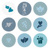 Happy Valentijnsdag pictogrammen — Stockvector
