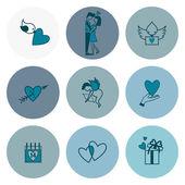 Happy Valentines Day Icons — Wektor stockowy