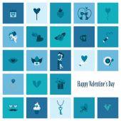 Happy Valentines Day Icons — ストックベクタ