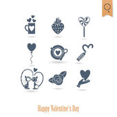 Happy Valentines Day Icons — ストックベクタ