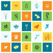 Happy Valentines Day Icons — Vecteur