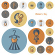 Womans Day Icon Set — Stock Vector #67019889