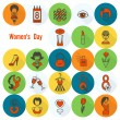 Womans Day Icon Set — Stock Vector #67019911