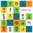 Womans Day Icon Set — Stock Vector #67088709