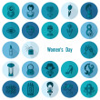Womans Day Icon Set — Stock Vector #67088767