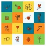 Happy Valentines Day Icons — Stock Vector #67559413