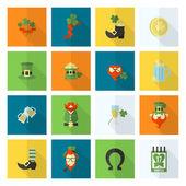Saint Patricks Day Icon Set — Stock Vector