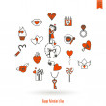 Happy Valentines Day Icons — Stock Vector #69697011