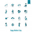 Happy Mothers Day Icons — Stock Vector #70195753