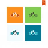 Happy Mothers Day Icon — Stock Vector