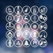Christmas icons set — Stok Vektör