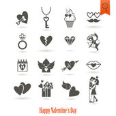 Happy Valentines Day Icons — Vector de stock