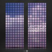 Mosaic Tiles Texture Background — Stock Vector