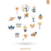 快乐情人节图标 — 图库矢量图片