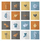 Happy Valentines Day Icons — Stock Vector