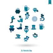 Saint Patricks Day Isolated Icon Set — Stock Vector