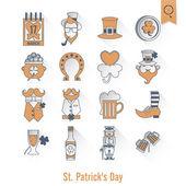 Saint Patricks Day isolado Icon Set — Vetor de Stock