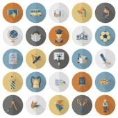 Ikoner för skola och utbildning — Stockvektor