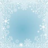 Winter seasonal Background with Snowflakes — Stock Vector