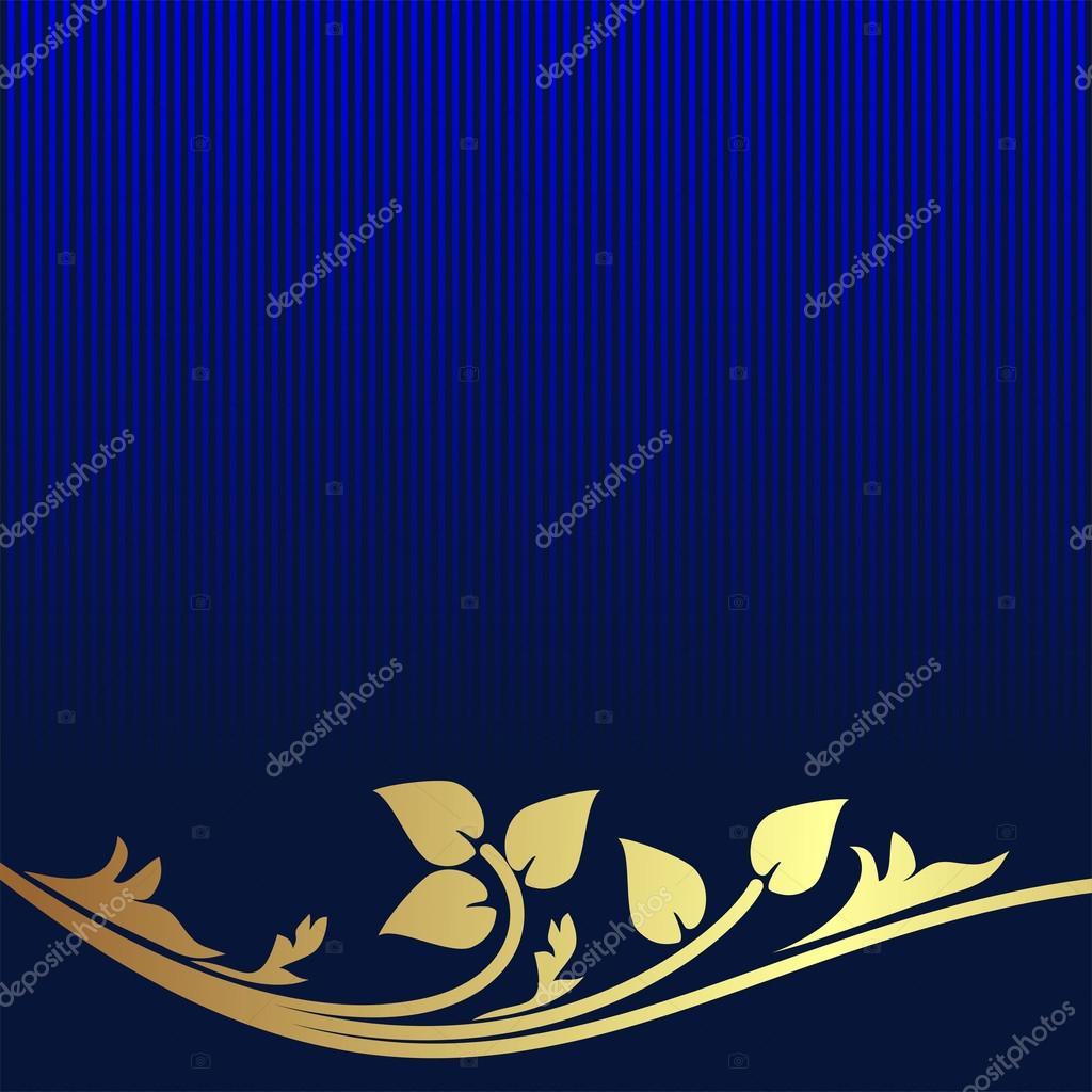 Royal blue and gold wallpaper