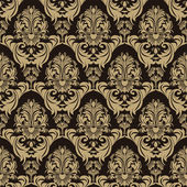 Seamless ornate floral Pattern on the chocolate Background — Cтоковый вектор
