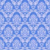 Seamless gently-blue damask Wallpaper for design. — 图库矢量图片