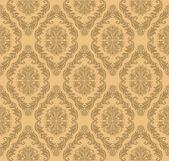 Seamless floral  retro Wallpaper for design — Stock Vector
