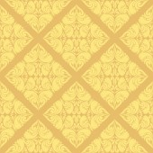 Damask beige seamless Wallpaper — Stockvector