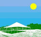 Witte tent — Stockfoto