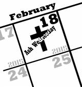 2015 ash wednesday icon — Foto de Stock